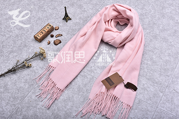 300 grams of flowers(Sakura pink simple warm long scarf)
