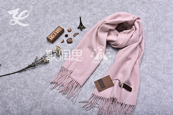 300 grams of flowers(Light pink trendy simple wild scarf)