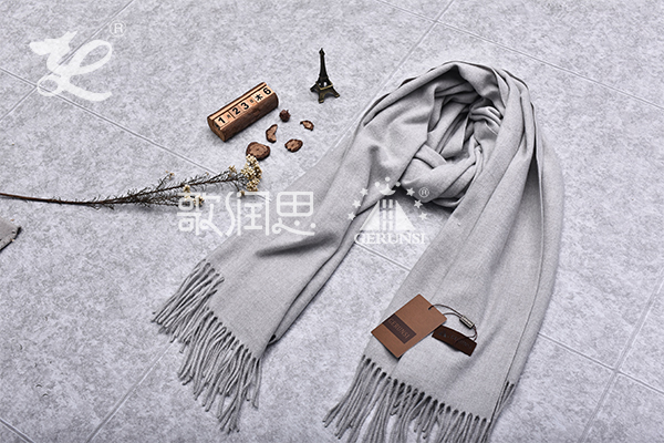 300 grams of flowers(Grey Trendy Long Thermal Scarf)