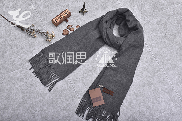 300 grams of flowers(Dark gray fashion simple windproof scarf)