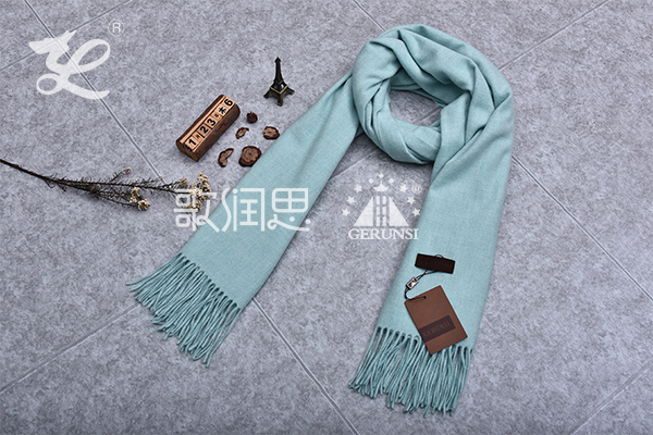 300 grams of flowers(Light blue fashion warm wild scarf)