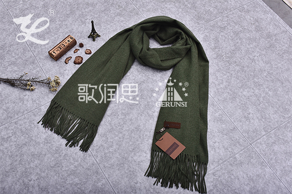 300 grams of flowers (Army green fashion simple long scarf)