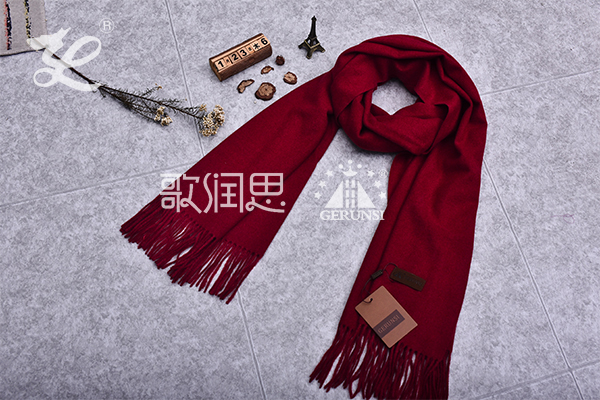 300 grams of flowers (Brick red fashion trend long scarf)