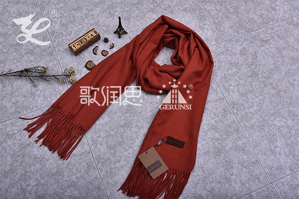 300 grams of flowers (Light brick red trendy simple scarf)