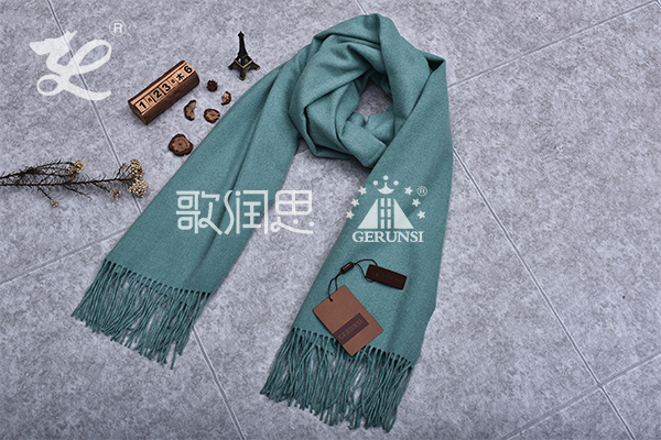 300 grams of flowers (Blue gray trendy simple long scarf)