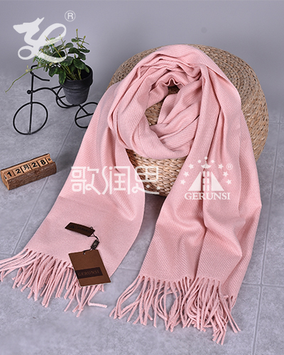 300 grams of large twill(Sakura pink wild long scarf)