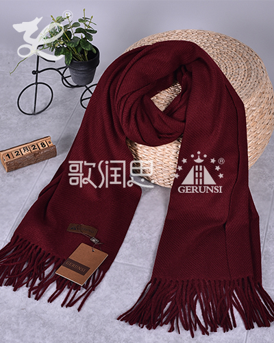 300 grams of large twill(Red coffee color warm trend scarf)