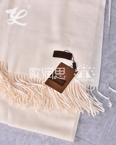 300 grams of large twill(Milky white warm windproof scarf)