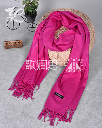 250 carat hair(Pink Windproof Warm Fashion Scarf)