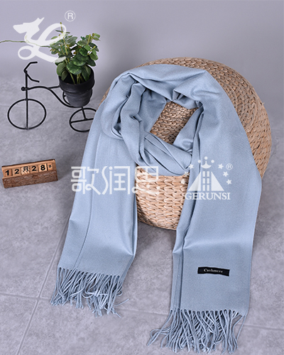 250 carat hair(Light blue simple wild long scarf)